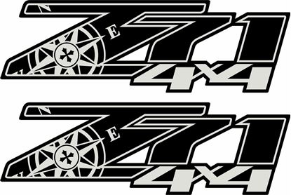Picture of Chevy Silverado  Z71 Compass Decals / Stickers