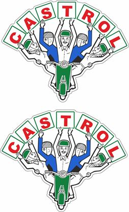 Picture of Lambretta / Vespa Castrol  Rally Decals / Stickers