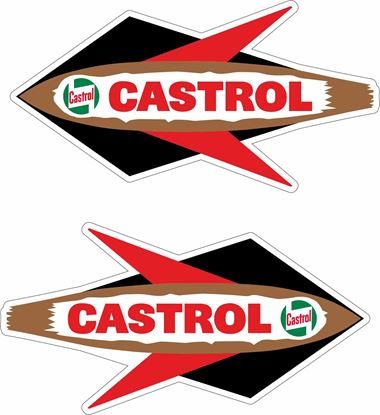 Picture of Lambretta / Vespa Castrol Rocket Decals / Stickers