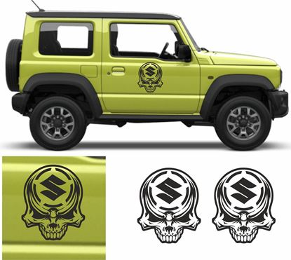 Picture of Jimny Military Skull side Door Decals / Stickers