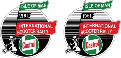 Picture of Lambretta Castrol  Isle of Man  Rally 1961 Decals / Stickers