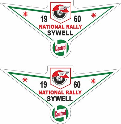 Picture of Lambretta  Castrol  National Rally 1960 Decals / Stickers