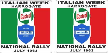 Picture of Lambretta Castrol  Harrogate Rally 1963 Decals / Stickers