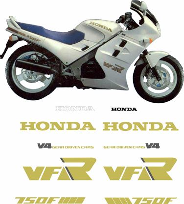 Picture of Honda VFR 750  1986 - 1987 Replacement Decals / Stickers