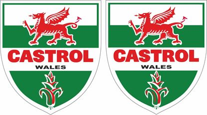 Picture of Lambretta / Vespa Castrol Decals / Stickers