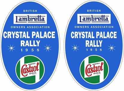 Picture of Lambretta Castrol  Crystal Palace Rally 1958 Decals / Stickers