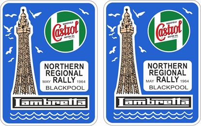 Picture of Lambretta Castrol  Northern Rally 1964 Decals / Stickers