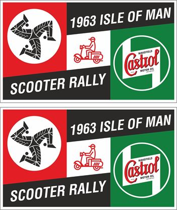 Picture of Lambretta / Vespa  Castrol Isle of man Rally 1963 Decals / Stickers