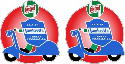 Picture of Lambretta BLOA Castrol Decals / Stickers
