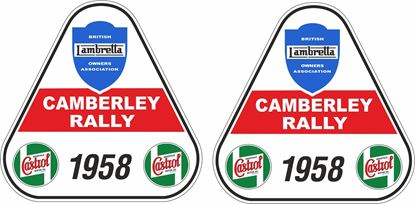 Picture of Lambretta Castrol  Camberley Rally 1958 Decals / Stickers