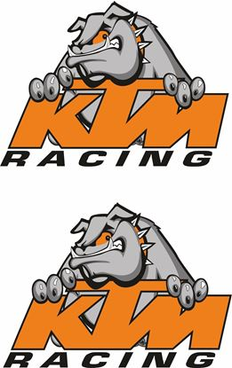 Picture of KTM Racing Bulldog Decals / Stickers