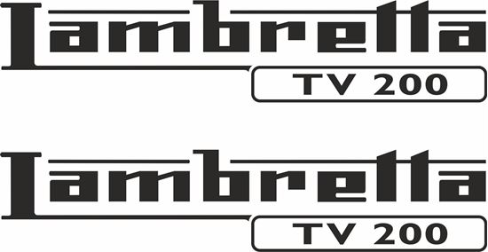 Picture of Lambretta TV 200 General Panel Decals / Stickers