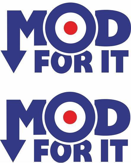 "Picture of Lambretta ""Mod for it"" Decals / Stickers"