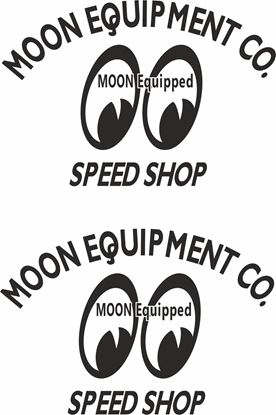 "Picture of Lambretta / Vespa  ""Moon Equipment..."" General Panel Decals / Stickers"