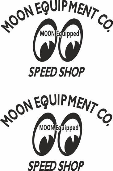 "Picture of Lambretta / Vespa  ""Moon Equipment..."" General Panel Decals / Stickers"