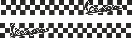 Picture of Vespa Chequered side panel Stripes  / Stickers
