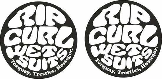 """Picture of """"Rip Curl...""""  panel  Decals / Stickers"""
