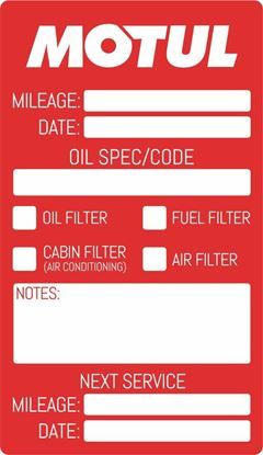 "Picture of ""Motul"" Service / Maintenance Stickers"