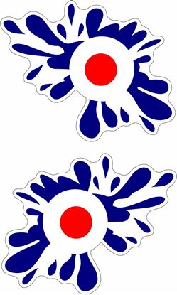 Picture of Lambretta / Vespa Mod Splat Decals / Stickers