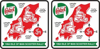 Picture of Lambretta  Castrol Isle of Man Rally 1964 Decals / Stickers