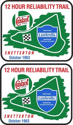 Picture of Lambretta  Castrol Snetterton Trial 1963 Decals / Stickers