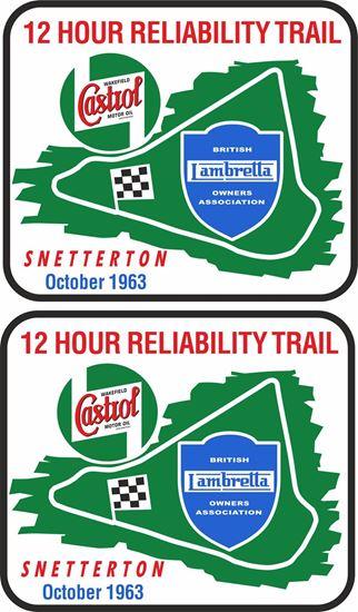 Picture of Lambretta  Castrol Snetterton Trial 1963 Decals / Stickers