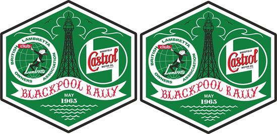 Picture of Lambretta Castrol  Blackpool Rally 1965 Decals / Stickers