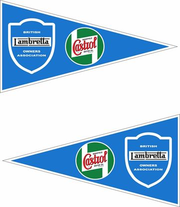 Picture of Lambretta BLAO Castrol Decals / Stickers