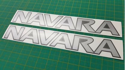 Picture of Nissan Navara replacement roof rail Decals / Stickers