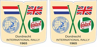 Picture of Lambretta BLOA Castrol Rally Decals / Stickers