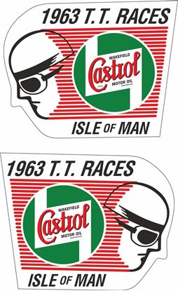 Picture of Castrol Isle of man T.T. Races 1963 Decals / Stickers