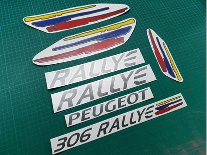 Picture of Peugeot 306 Rallye replacement Decals Stickers ANTHRACITE