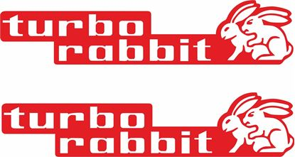 Picture of Turbo Rabbit Decals / Stickers