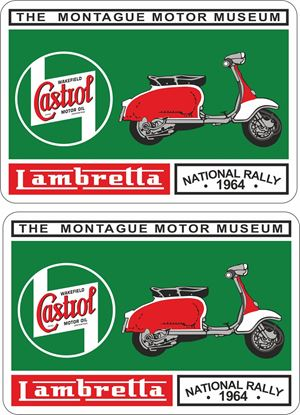 Picture of Lambretta  Castrol  National Rally 1964 Decals / Stickers