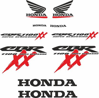 Picture of Honda CBR Super Blackbird Custom Decals / Stickers