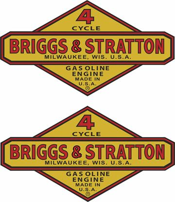 Picture of Briggs & Stratton 1945 - 1950   Decals / Stickers