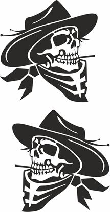 Picture of Cowboy Skull general panel  Decals / Stickers