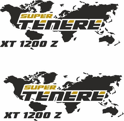 Picture of Yamaha XT 1200Z Super Tenere  Givi / Touratech Pannier  Decals / Stickers