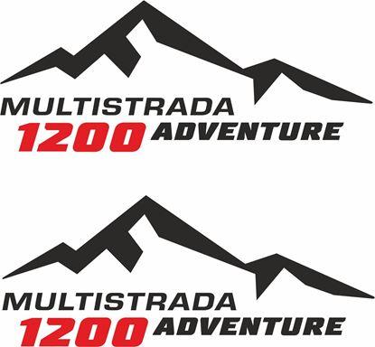 Picture of Ducati Multistrada 1200 Givi / Touratech Pannier Decals / Stickers