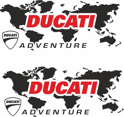 Picture of Ducati Multistrada Givi / Touratech Pannier  Decals / Sticker