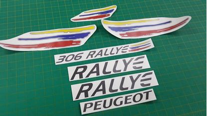 Picture of Peugeot 306 Rallye replacement Decals / Stickers ANTHRACITE & SILVER