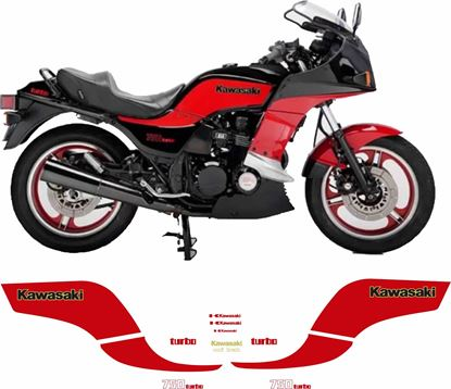 Picture of Kawasaki GPZ 750 Turbo 1983 - 1985 Full  replacement Decals / Stickers