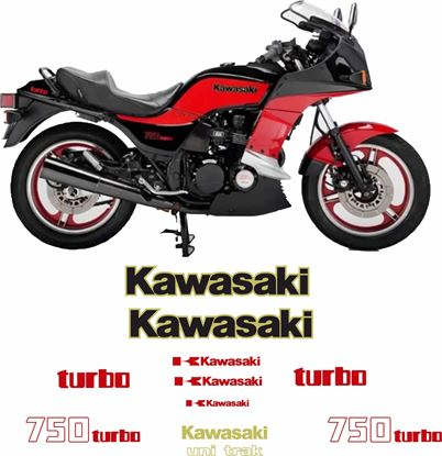 Picture of Kawasaki GPZ 750 Turbo 1983 - 1985  replacement Decals / Stickers