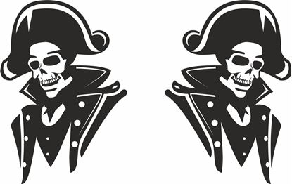Picture of Admiral Skull general panel  Decals / Stickers