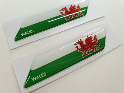 Picture of Wales 70mm Exterior Gel Badges