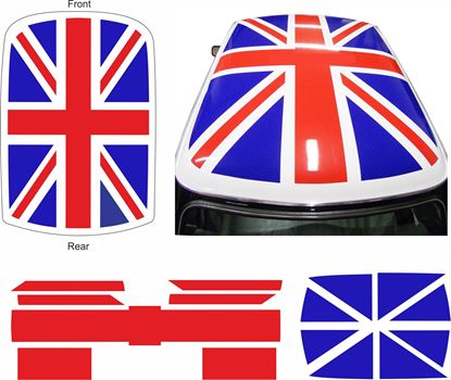 Picture of Classic Mini  Union Jack Roof Graphic  / Sticker
