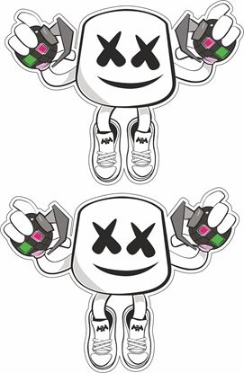 Picture of Fortnite Marshmello Man general panel  Decals / Stickers