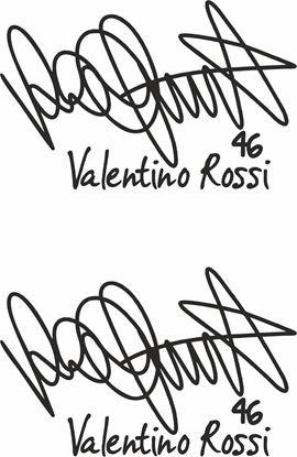 "Picture of ""Valentino Rossi 46"" Signature  Decals / Stickers"