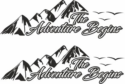 Picture of The Adventure Begins Decals  / Stickers