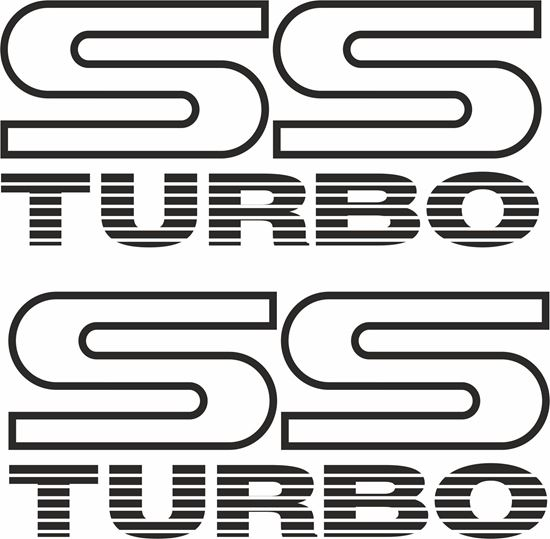 "Picture of Subaru Legacy ""SS Turbo"" Replacement  Decals / Stickers"